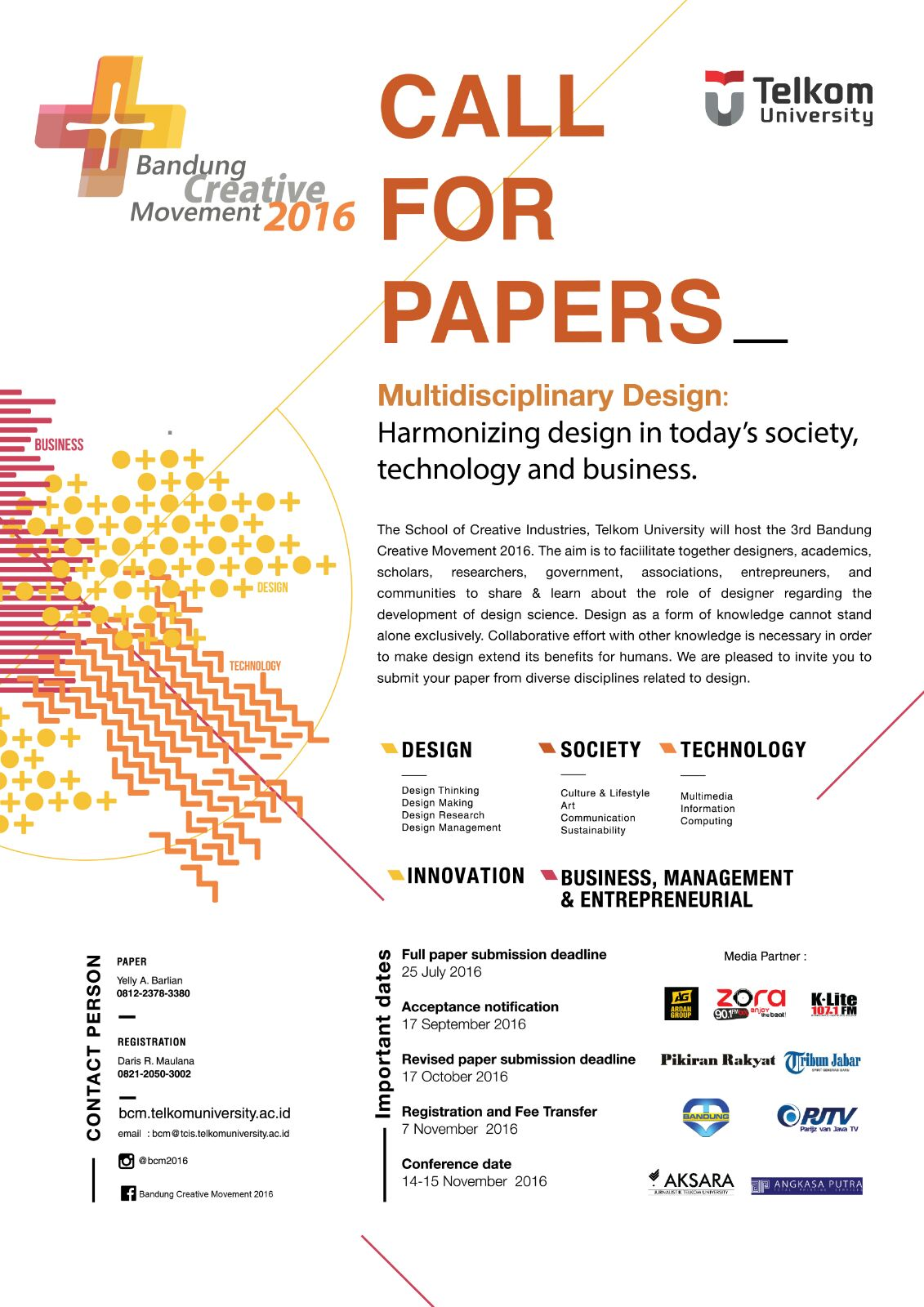 bcm 2016 call for paper in multidisciplinary design harmonizing call for paper bcm 2016