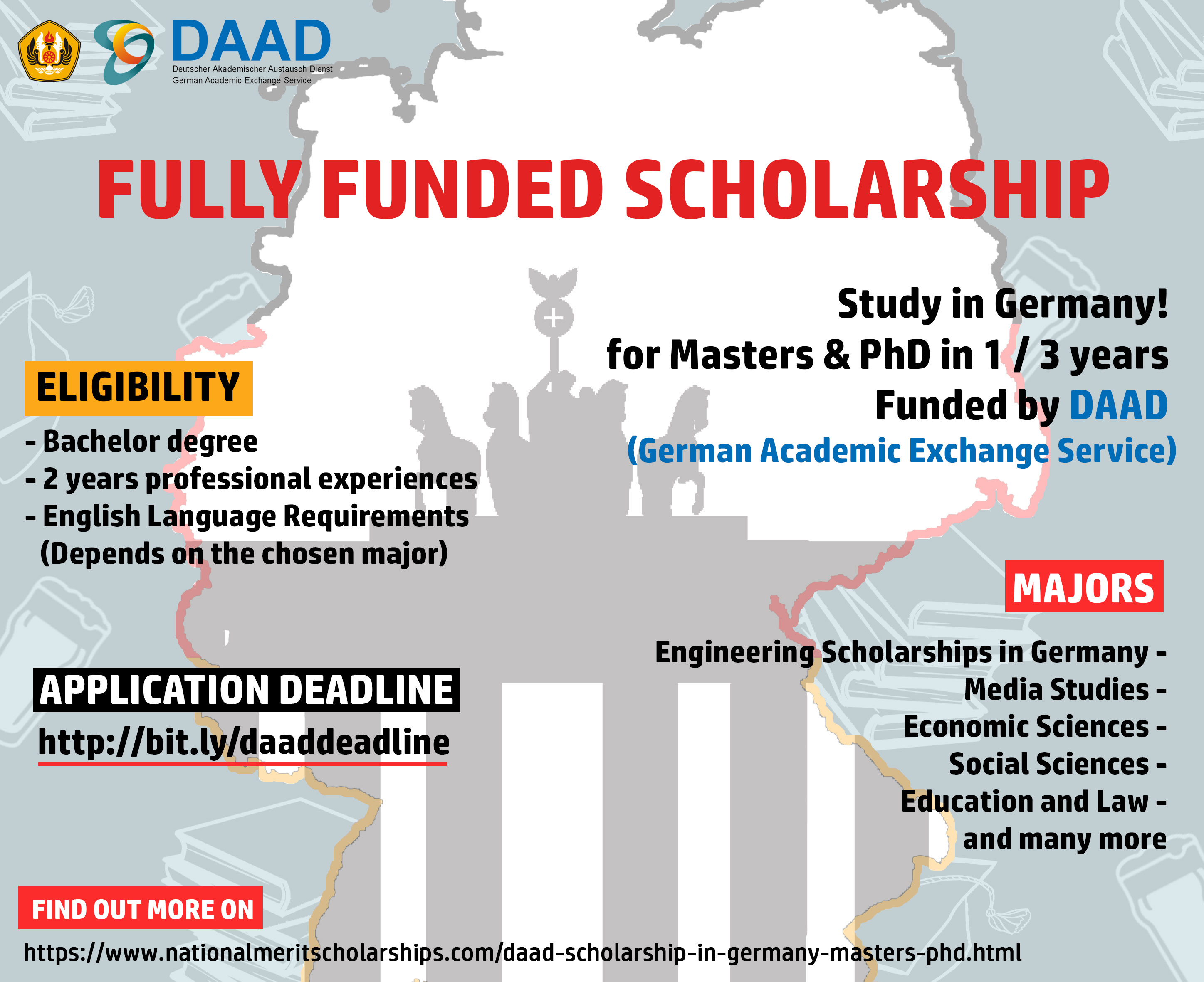 SCHOLARSHIP IN GERMANY] Master and Ph D programs Deadline: August